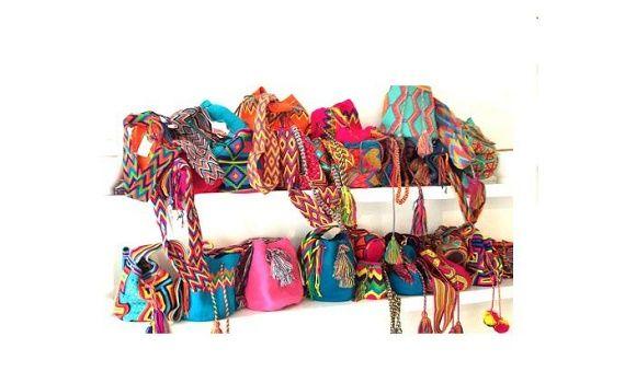 Schoudertassen Zomer : Hippe gehaakte wayuu mochila tassen in ibiza style voor