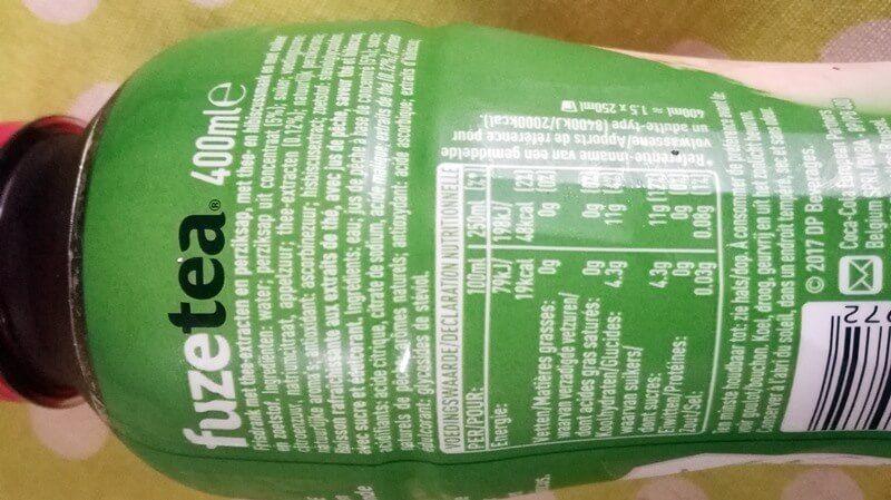 ingredienten fuze tea