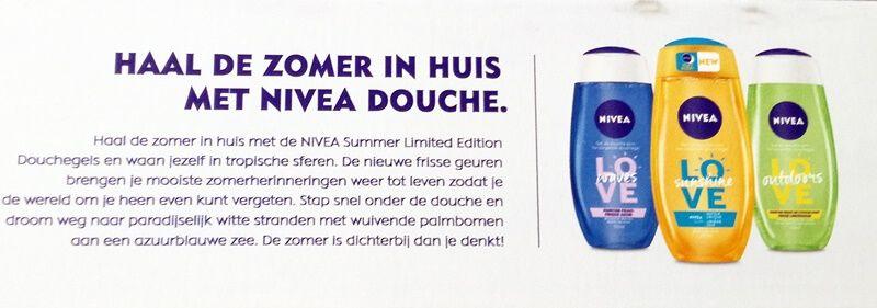 nivea summer shower gels